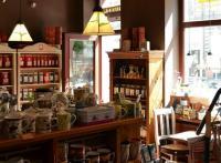 wnętrze herbaciarni